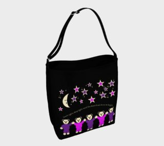 Purple and Pink Sleepy Bears Day Tote bag preview