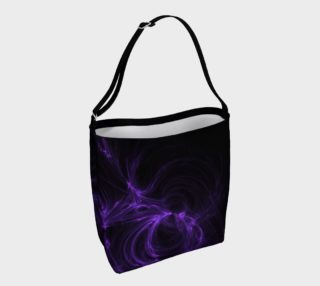 Purple Fractal on Black Day Tote preview