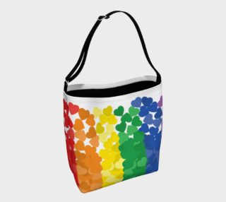 rainbow hearts day tote preview