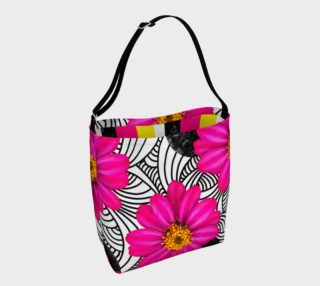 Hot Floral Stripes - Day Tote preview