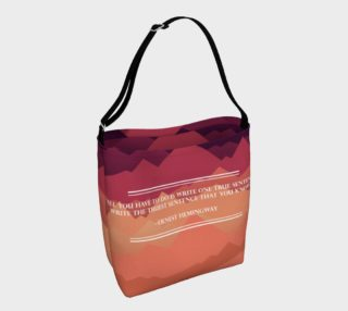 Hemingway Quote Tote preview