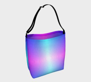 Purple, Blue, Pink, Cyan amd White Ombre Day Tote preview