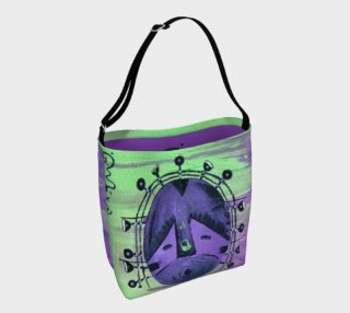 Green/Purple mask day tote preview