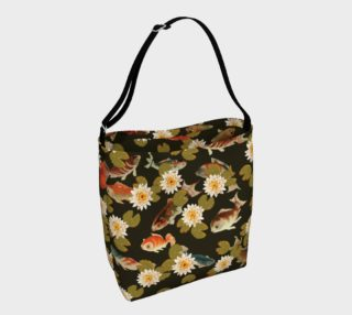 Koi & Lily Pads in Dark Water - Day Tote preview