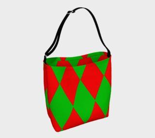 Christmas Harlequin Diamond Day Tote Bag preview