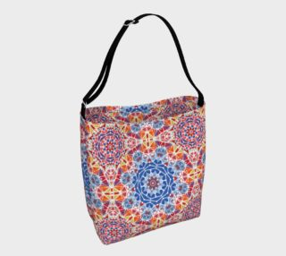 Blue and  Orange Kaleidoscope Day Tote preview