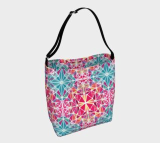 Pink and Blue Kaleidoscope Day Tote preview