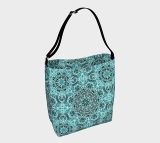 Turquoise & Gray Kaleidoscope Day Tote preview