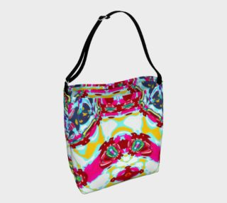 City Girl With Kaleioscope Eyes Yoga Tote preview