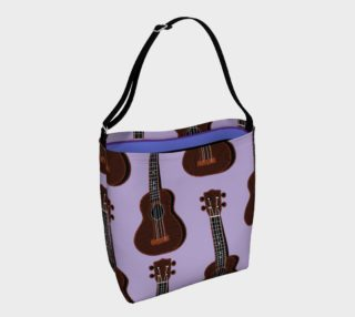 Ukulele Rains Purple Day Tote preview