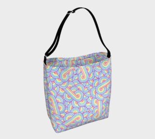 Rainbow and white swirls doodles Day Tote preview