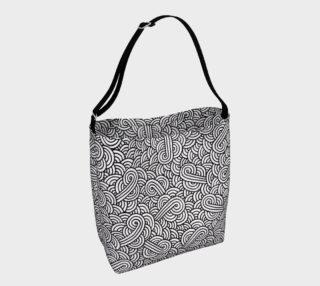 Black and white swirls doodles Day Tote aperçu