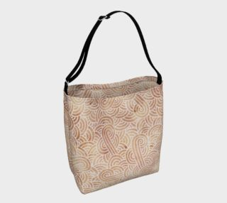 Iced coffee and white swirls doodles Day Tote aperçu