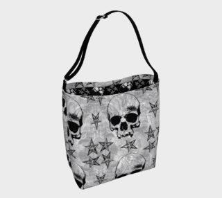 Baphomet Skulls Gothic Tote Bag preview