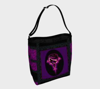 Fractal Rose Gothic Art Tote Bag preview