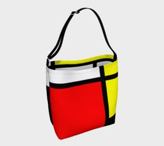 Mosaic DE STIJL Style black yellow red blue preview
