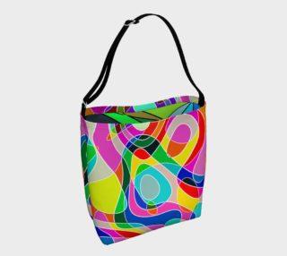 Aperçu de Modern POP ART Squiggly Loops multicolored III
