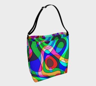 Modern POP ART Squiggly Loops 2x multicolored preview