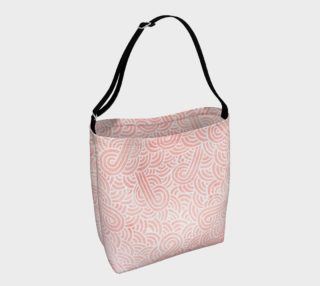Rose quartz and white swirls doodles Day Tote preview