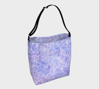 Lavender and white swirls doodles Day Tote aperçu