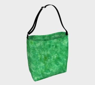 Green swirls doodles Day Tote preview