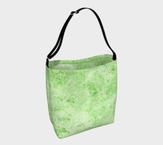 Greenery and white swirls doodles Day Tote aperçu