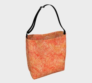 Orange and red swirls doodles Day Tote aperçu