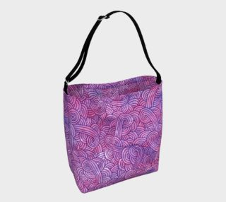 Neon purple and pink swirls doodles Day Tote preview