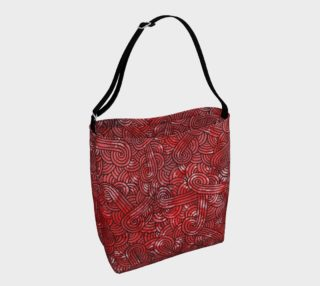 Red and black swirls doodles Day Tote preview