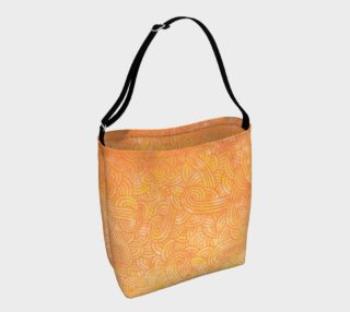 Yellow and orange swirls doodles Day Tote preview