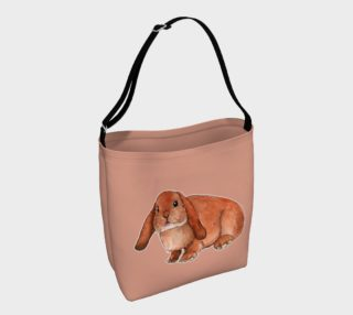 Red rabbit ram Day Tote preview