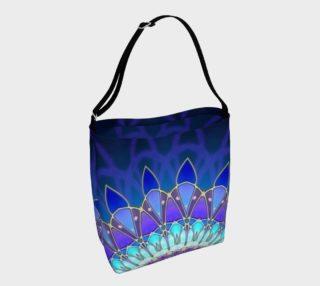 Wonderful Flower Mandala Blue Cyan Violet II preview