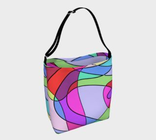 Abstract Art Squiggly Loops - Pink Blue Violet preview