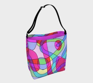 Abstract Art Squiggly Loops - Pink Blue Violet III preview