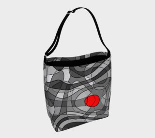 Pop Art Squiggly Loops - Grey Mix Red II preview