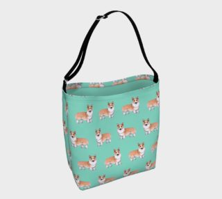 Aperçu de Welsh corgi dogs pattern Day Tote