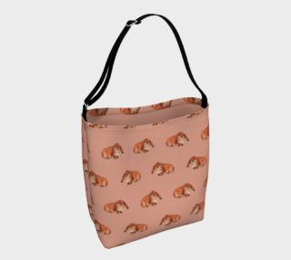 Red rabbit ram pattern Day Tote preview