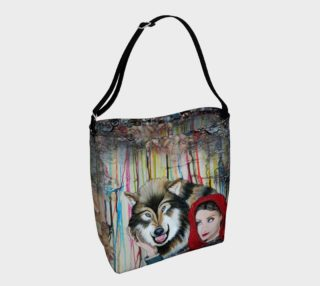 Aperçu de Red and the Big Mad Wolf Tote