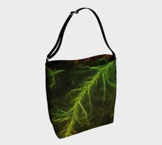 Day Tote Bag with a Fractal Hybrid of Guzmania Tuti Fruitti and Ferns preview