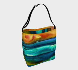 Watercolor Sunrise Tote preview
