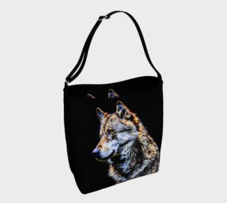 Wolf fractal totebag preview