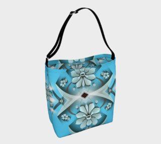 Aperçu de Blue floral tote bag