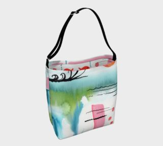 Sun Rising Over Ocean Watercolor Design Day Bag preview