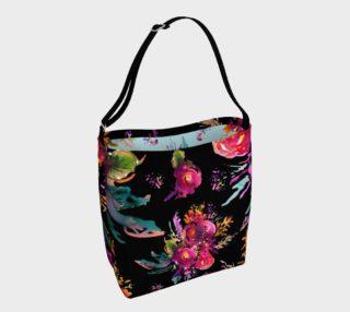 Happy Roses Black Tote bag preview