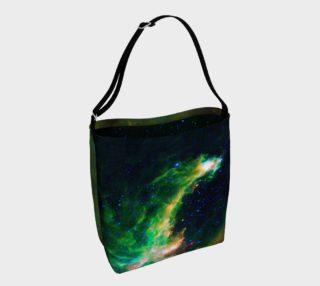 Emerald Nebula Tote Bag preview