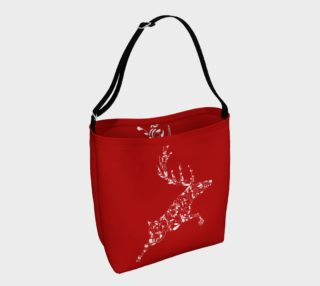 Red Christmas Reindeer tote bag preview