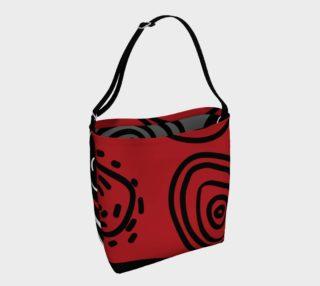 Aperçu de Loopyloop Red and Charcoal Tote