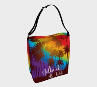 Mother of the Bride Tropical Rainbow tote bag preview
