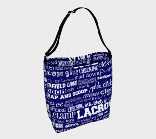Lacrosse Tote - Blue and White preview