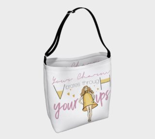 Bell Charm though hips (White_Gold Tote Bag) preview